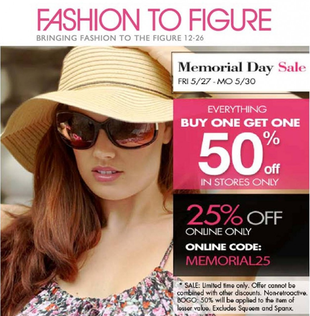 Online Coupon Codes For Fashion To Figure Fashion to Figure Sale