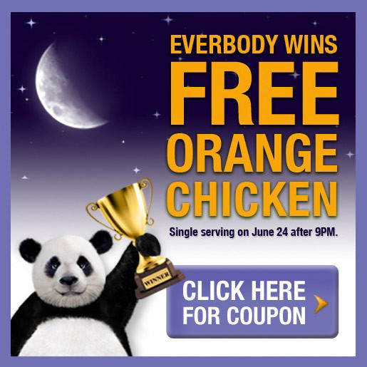 free orange chicken